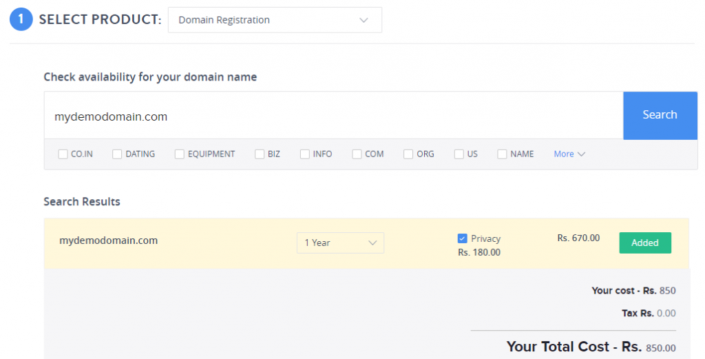 ResellerClub注册域名